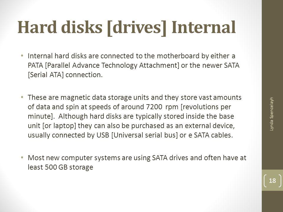 Hard disks [drives] Internal